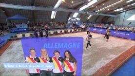 Pétanque Championnat d'Europe 2018 femmes 1èr demi finale Italie Allemagne
