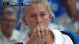 Pétanque Championnat Europe 2018 femmes 2ème demi finale France Suisse